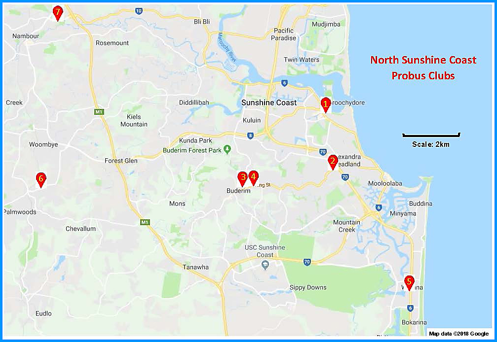 North Sunshine Coast Map 1
