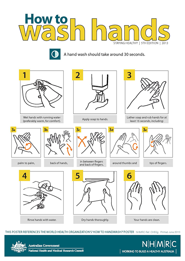 ch55g how wash hands poster